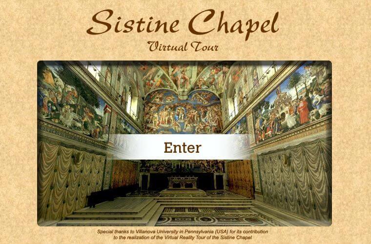 Virtual Tours of Sistine Chapel