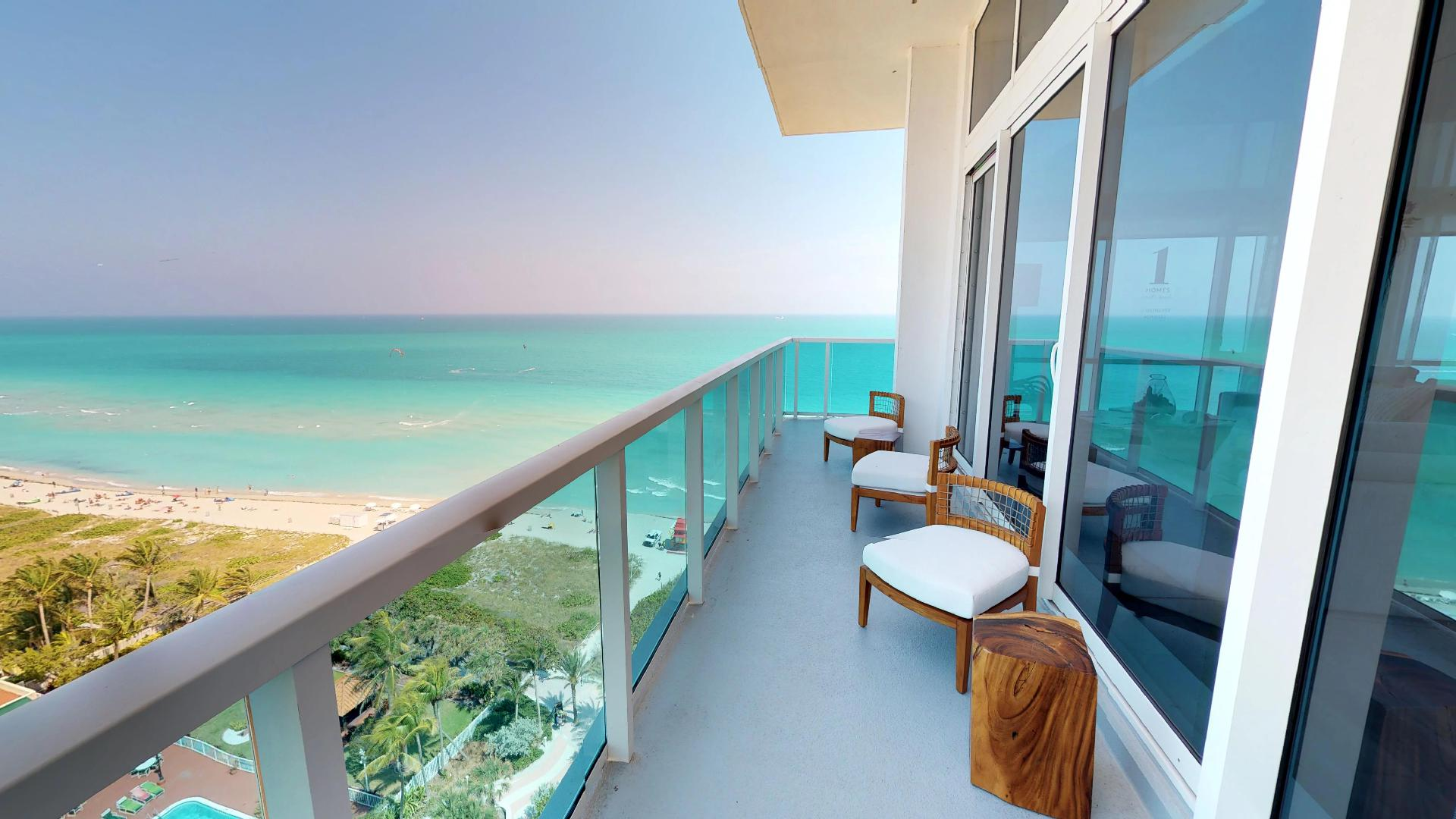 1 Hotel and Homes South Beach Penthouse 1609 First Floor Balcony