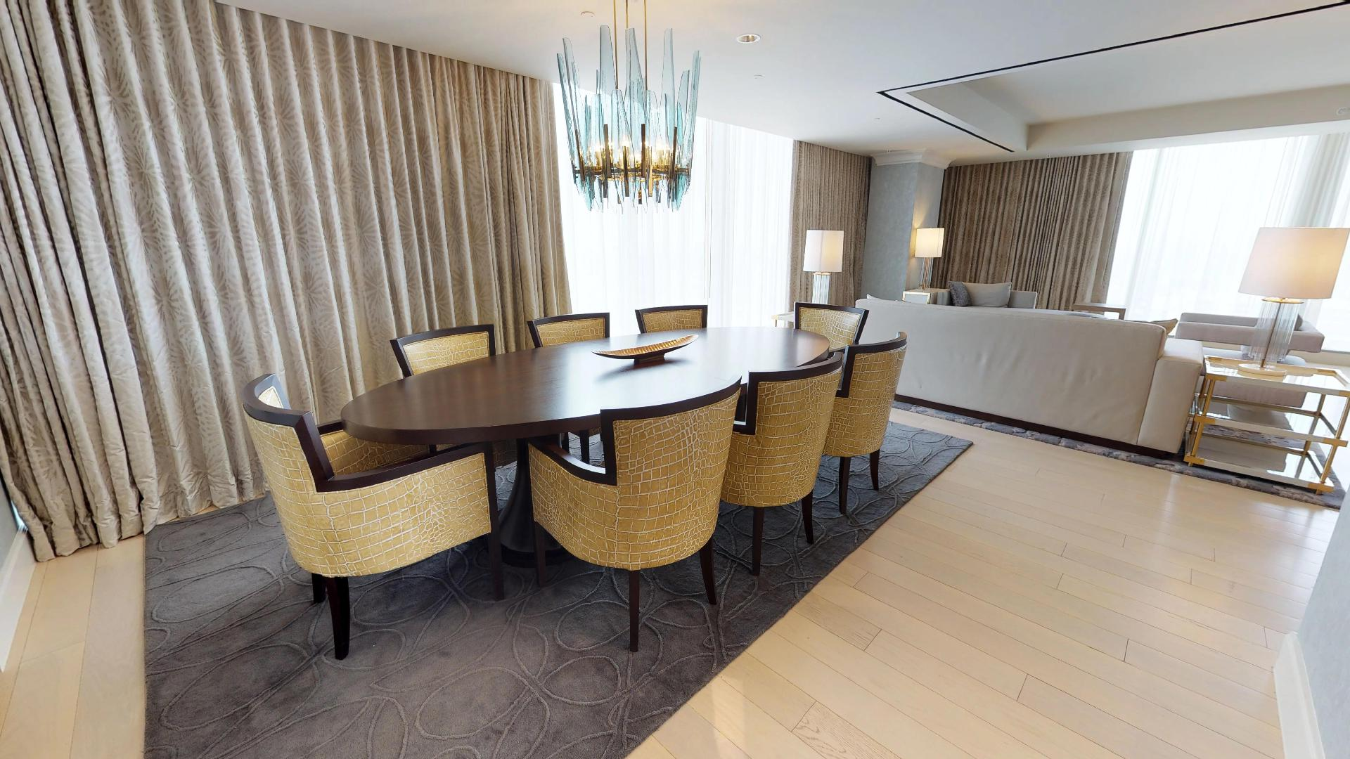 Marriott Marquis Houston Presidential Suite Dining Area